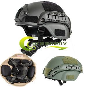 MICH2000 Helmet Outdoor Airsoft Military Tactical Combat Cap Hat Riding Black
