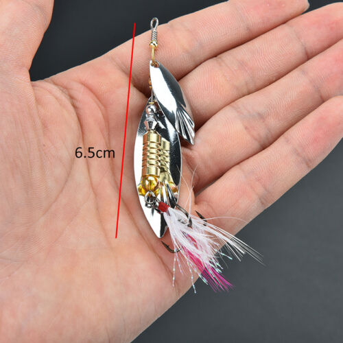 7g fishing lure spoon bait ideal for bass trout perch pike rotating fishinRSFD
