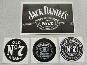 Mix-stickers-4pcs-Jack-Daniel-s-vinyl-gloss-3psc-45mm-1pcs-100mm-60mm-NEW