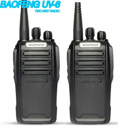2X BAOFENG UV-6 2-Way Radio 136-174//400-480MHZ UHF//VHF Ham Dual Band Transceiver
