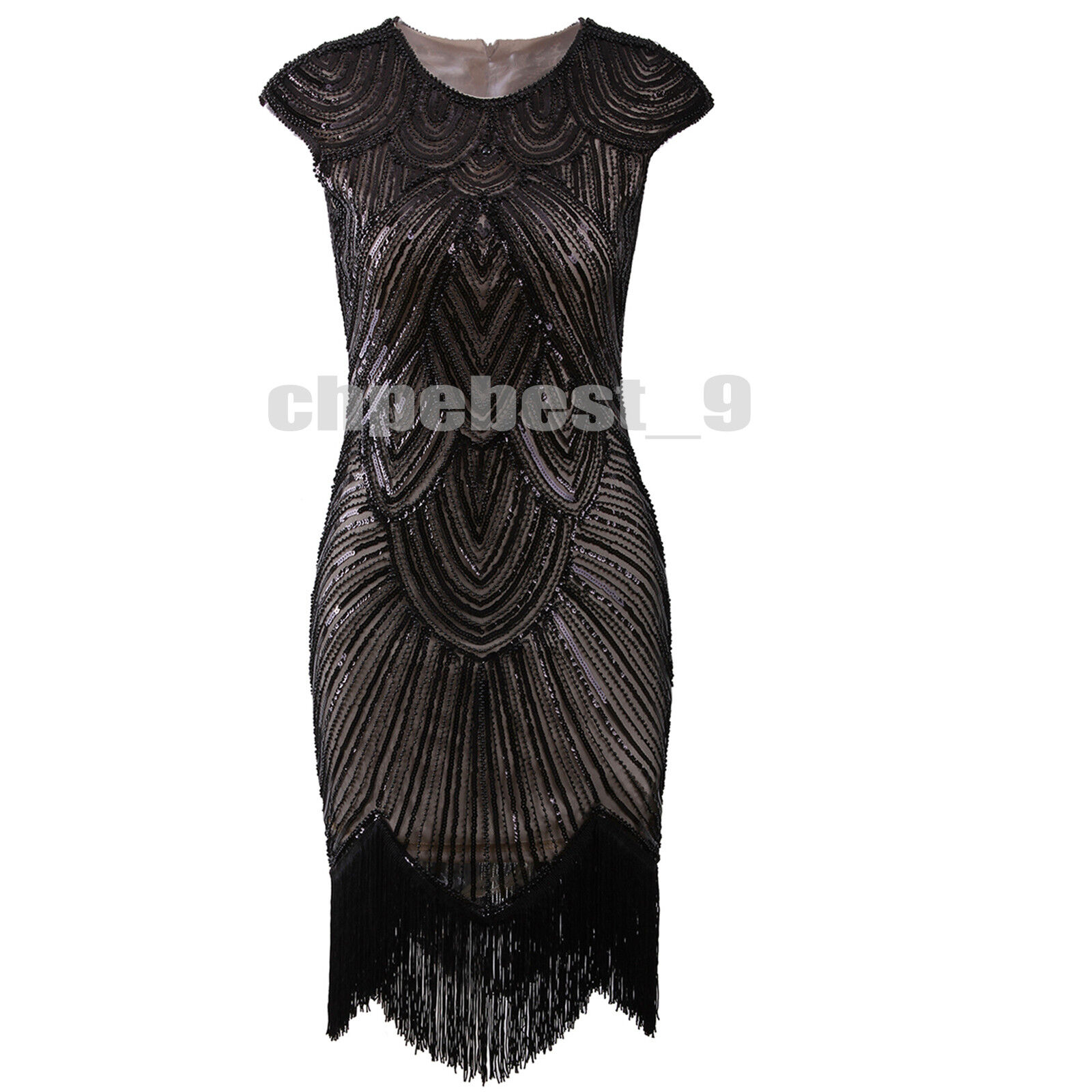 1920s Flapper Dress Prom Gown Great Gatsby Party Sequins Evening ...