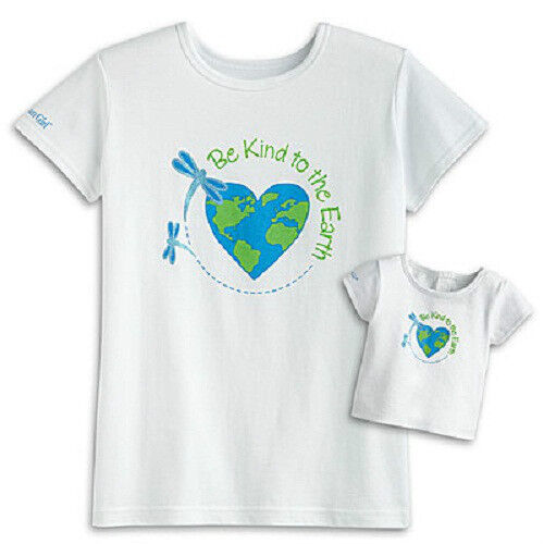 American Girl LANIE TEE SET for GIRL DOLL Red Blue Green White girls XS S M L XL