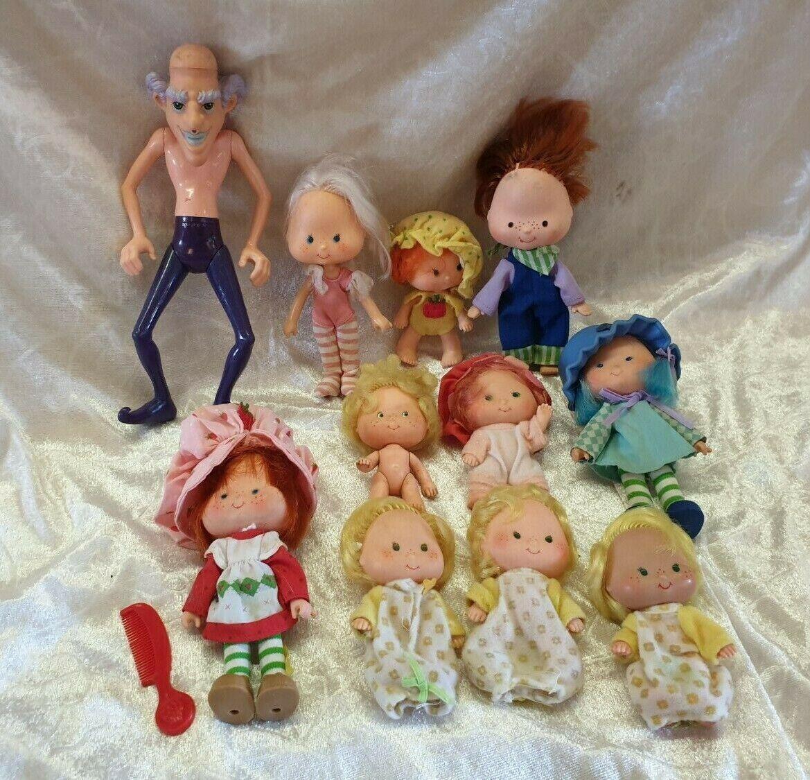 Vintage lot of 11 Strawberry Shortcake figurines dolls doll 1980s