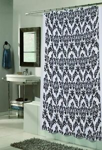 Regal Fabric Shower Curtain Design With Flocking 70x72 Inch Multiple Colors