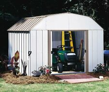 "Arrow Lexington Galvanized Steel Shed  10' x 14' with 62"" Wall Height With doors"