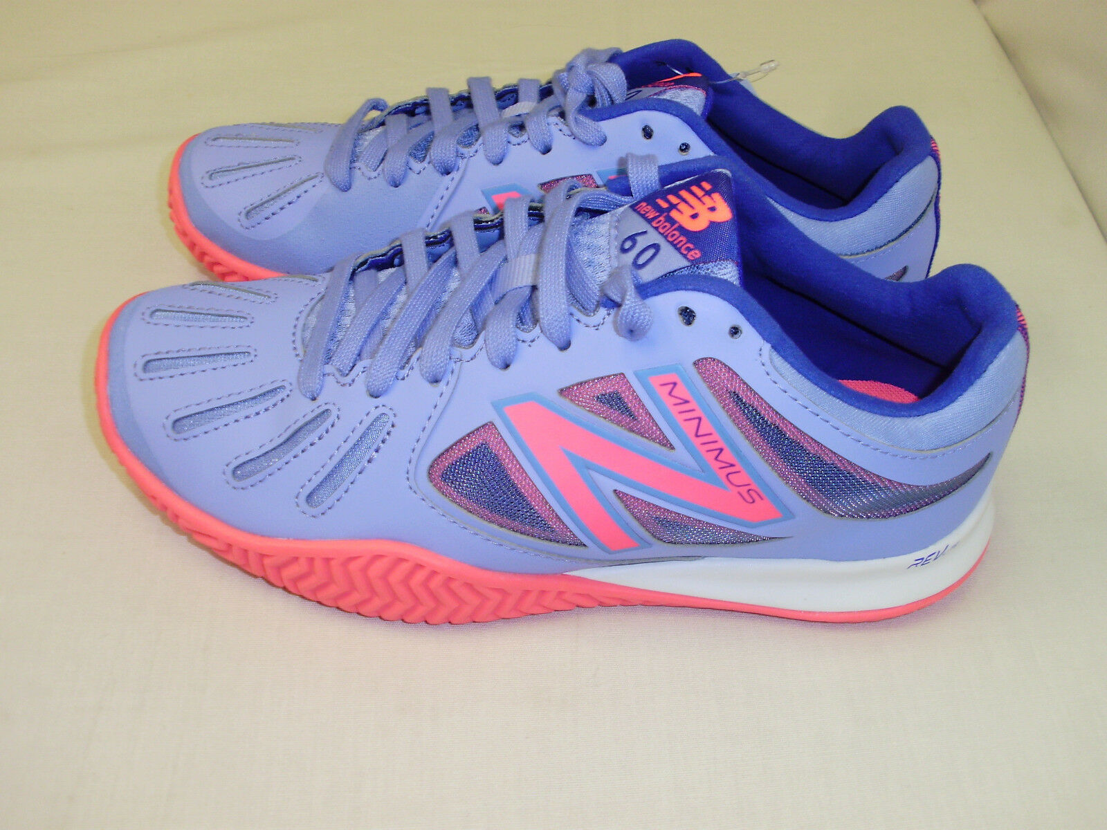 Lady's New Balance Minimus 60 Violet Clair Chaussures De Course Baskets Taille 6.5 Neuf