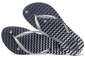 3a430933f2788 Details about Havaianas Women`s Flip Flops Slim Oceano Sandal Navy Blue  Nautical Sandals NWT
