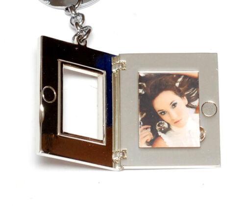 Foto Schlüsselanhänger GLAMOUR mit Glitzer Steinchen für 20x26mm Fotos NEU//OVP