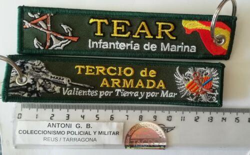 Llavero bordado TERCIO DE LA ARMADA ESPAÑOLA TEAR INFANTERIA DE MARINA ESPAÑA