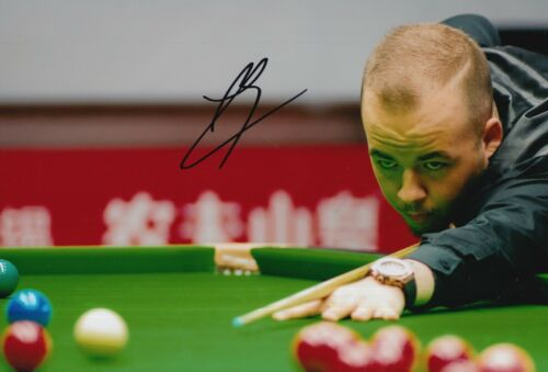 LUCA BRECEL HAND SIGNED 12X8 SNOOKER PHOTO PROOF 2.