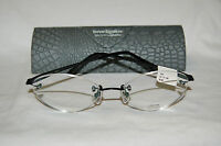 $540 Sama Couture Leo Glasses 51/17/138 Black Frames Authentic Rimless