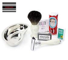 Wilkinson Sword Barber Doble Filo Seguridad Cuchillas De Afeitar Afeitar Set Bowl Cepillo