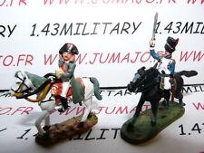 SOLDAT de plomb DEL PRADO 1/50 : AUSTERLITZ Napoléon : lot n°17 2 cavaliers