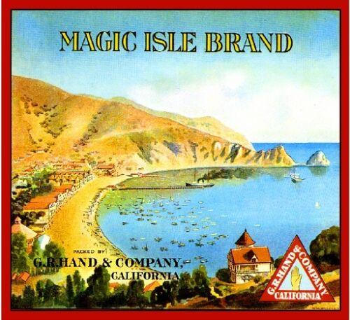 Catalina Island Magic Isle Avalon Bay Orange Citrus Fruit Crate Label Art Print