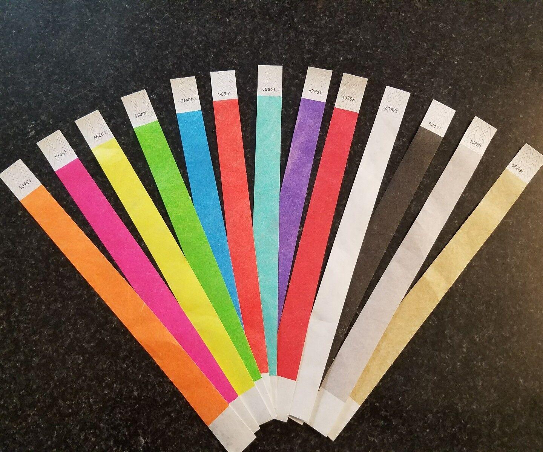 4,000 les bracelets Tyvek 3 4  16 couleurs à choisir