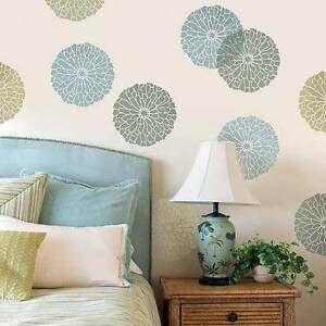 Image Is Loading Summer Blossom Wall Art Stencil SMALL DIY Home