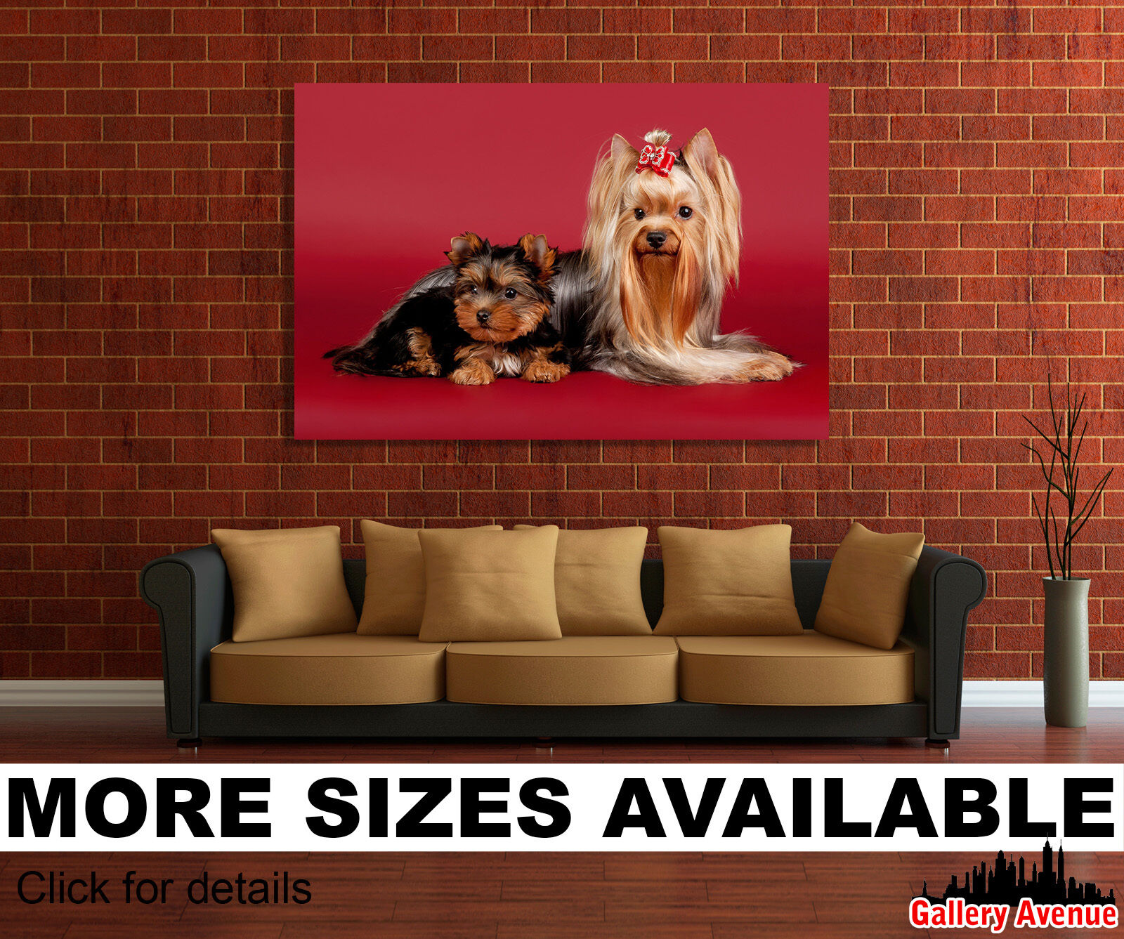 Wall Art Canvas Picture Print - Beautiful Yorkie Yorkshire Terrier Dog Puppy 3.2