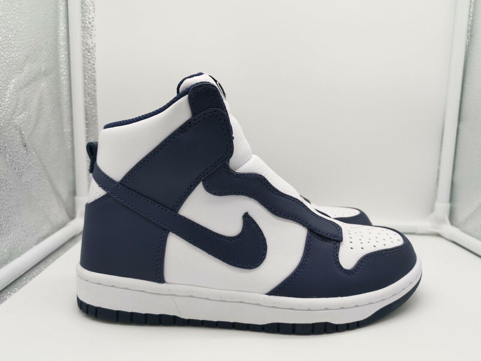 Nike damen Dunk Lux   Sacai UK 3.5 Midnight Navy Blau Weiß 776446-441