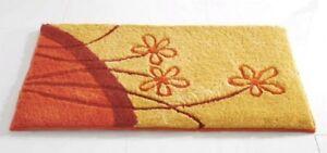 Badematte Mit Blume Gelb Orange Terra Bad Teppich Duschmatte Neu