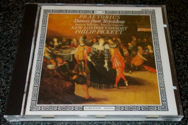PRAETORIUS-DANCES FROM TERPSICHORE-CD 1986-FULL SILVER RING-PHILIP PICKETT-MINT