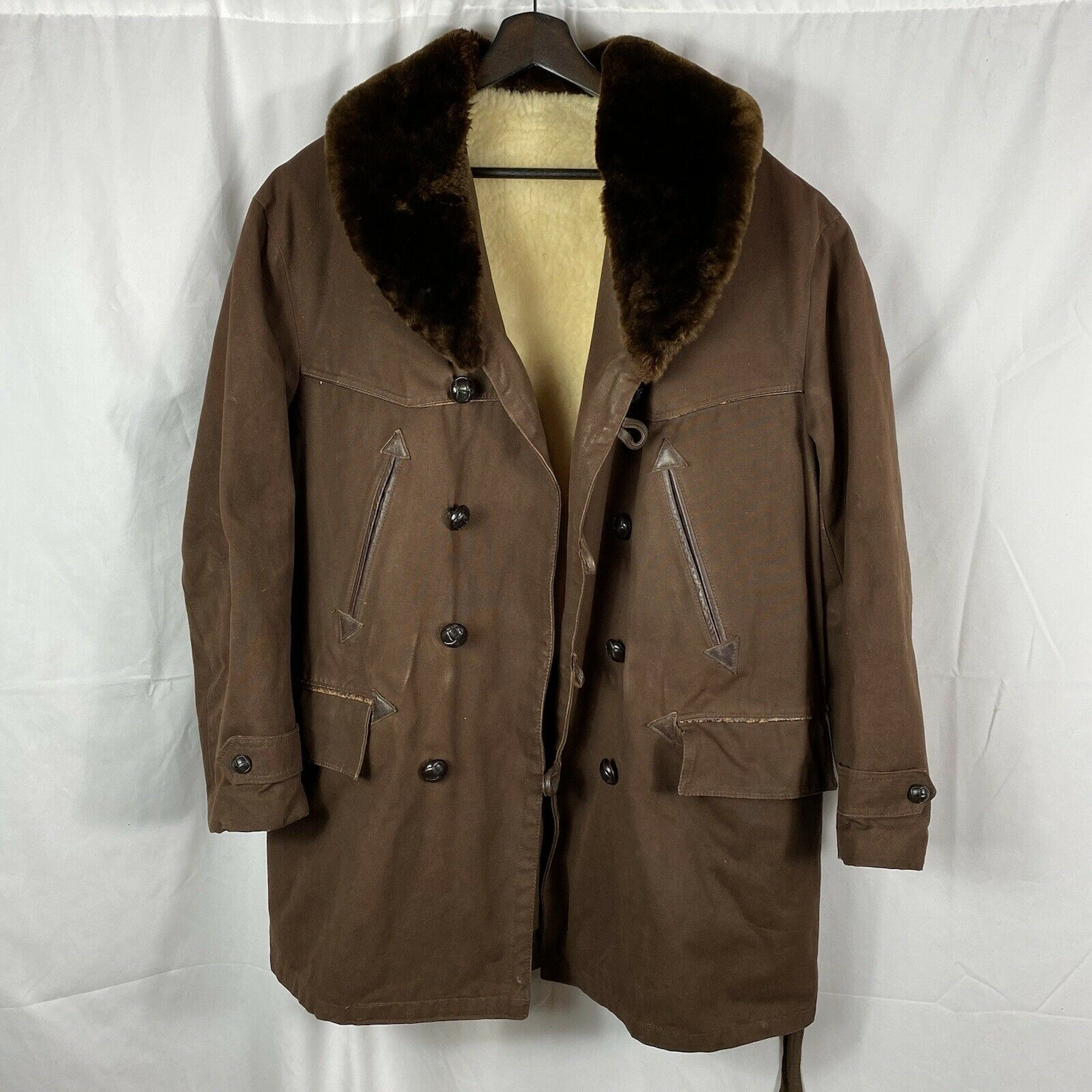 Vintage 1950s French Workwear Canadian Winter Jac… - image 1