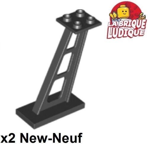 Lego 2x Support 2x4x5 poteau colonne pilier poutre incliné noir//black 4476b NEUF