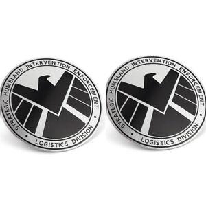 2pcs-3D-Avengers-Marvel-Agents-of-SHIELD-METALL-Aufkleber-CHROM-Emblem-Auto-Logo