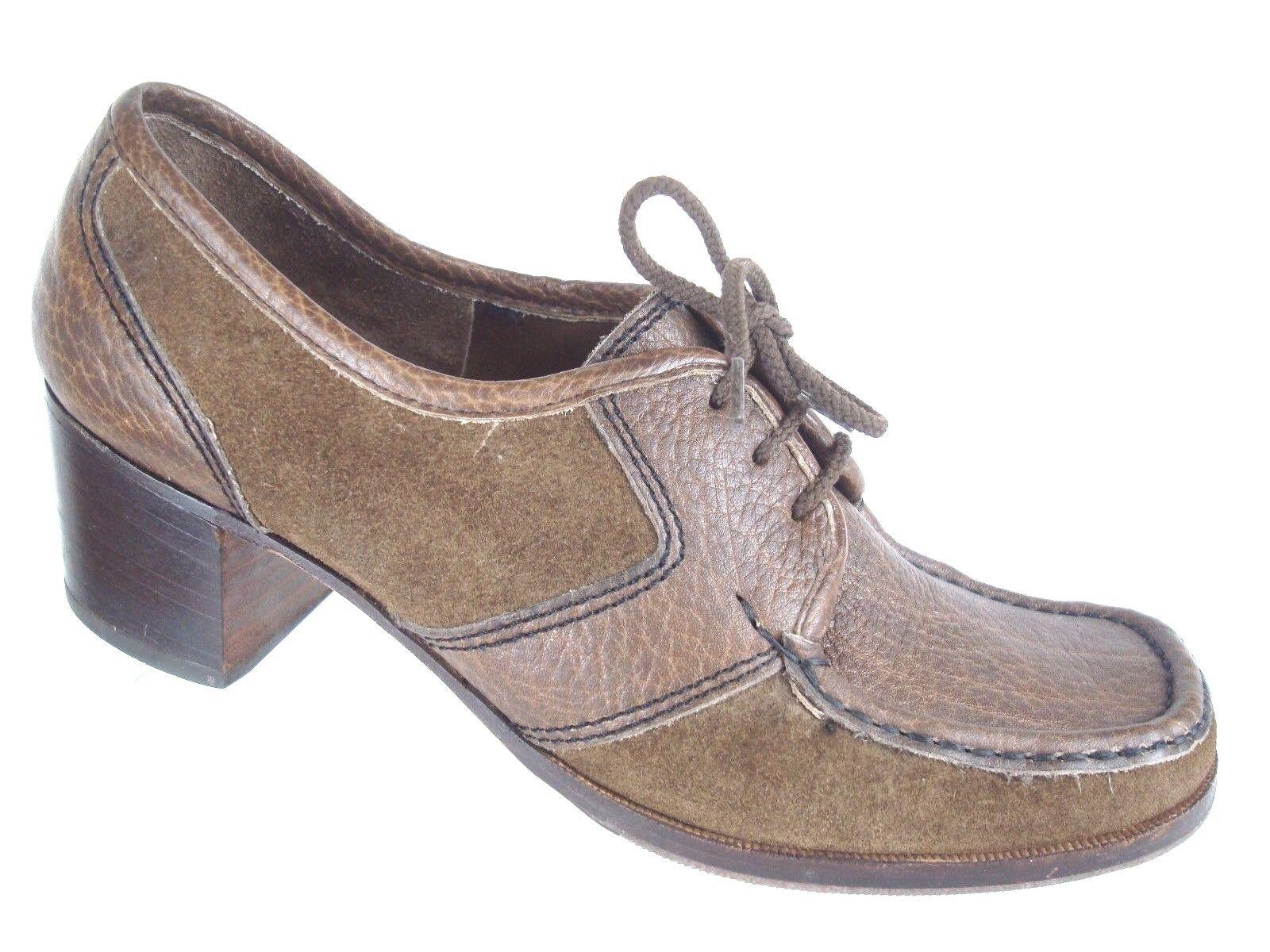 d44ead2384 SIOUX Germany marrone marrone Germany Pelle chunky Oxford heel ...