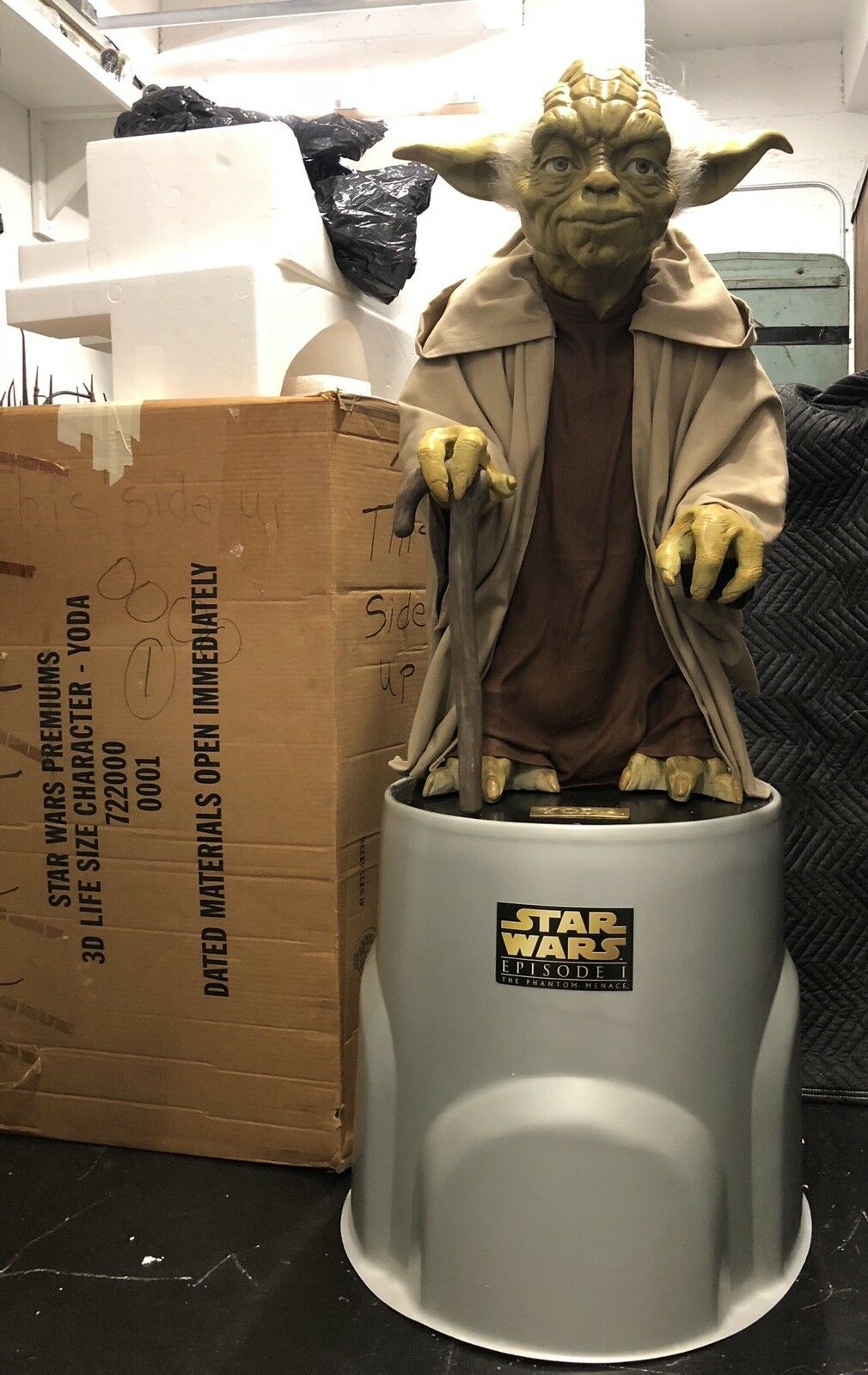RARE Pepsi STAR WARS Promo YODA STATUE Movie 3D Prop STORE DISPLAY Figure Stand
