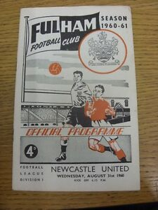 31081960 Fulham v Newcastle United  Creased Folded Item appears to be in g - <span itemprop=availableAtOrFrom>Birmingham, United Kingdom</span> - Returns accepted within 30 days after the item is delivered, if goods not as described. Buyer assumes responibilty for return proof of postage and costs. Most purchases from business s - Birmingham, United Kingdom
