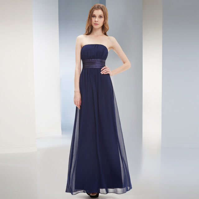 Ever Pretty Long Bridesmaid Chiffon Party Evening Prom Gown 09060 US Seller