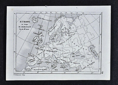 Map Of Spain 8th Century.1835 Levasseur Map Charlemagne Empire 8th Century Europe France