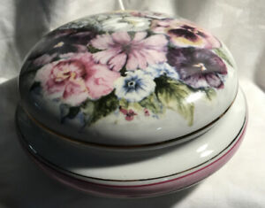 Round Porcelain Trinket box