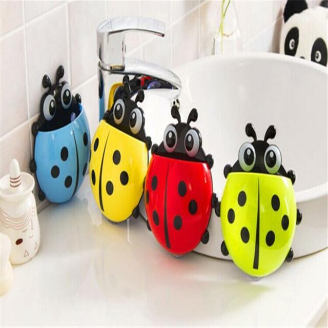 Cute Pocket Ladybug Toothbrush Wall Suction Holder Bathroom Hanger Sucker HookH