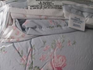 Simply Shabby Chic Bella Blue Rose Sprinkles Floral Comforter Set Full Queen Ebay