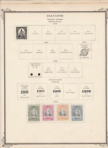 salvador stamps page ref 17187