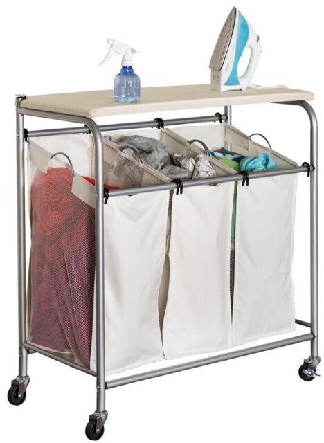 Laundry Cart Ironing Board Storage