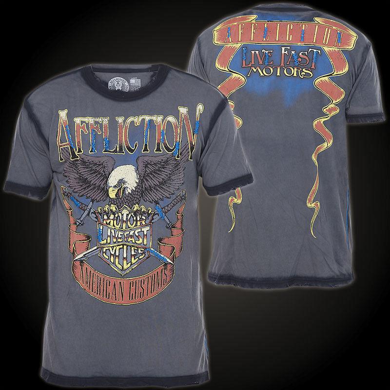 AFFLICTION T-Shirt Sky Rider grey T-Shirts