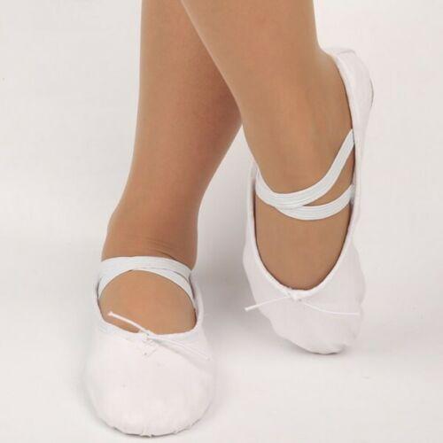 Children Adult Canvas Split Sole Ballet Dance Shoes Pointe Slippers ALL Size