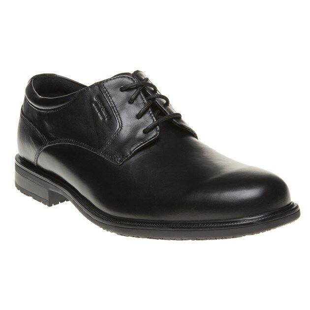d952b35ff3d3 Men s Rockport Esntial DTL II Plain Toe Low Rise Lace-up Shoes in Black UK  8   EU 42 for sale online