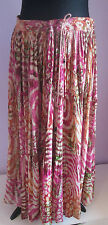 VTG 90s Ladies SHORT CIRCUIT Pink Multi Indian/Hippy Style Skirt Free Size  (T4)