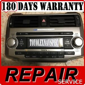 Image Is Loading 6 Cd Changer Repair Serive 2010 13 Toyota