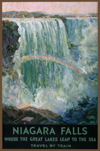 TW77 Vintage 1925 Niagara Falls Great Lakes Travel Poster Re-Print A1//A2//A3