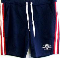 NEU sportliche Herren Bermudas Short blau gestreift rot weiß großeGr. 56/58 2XL
