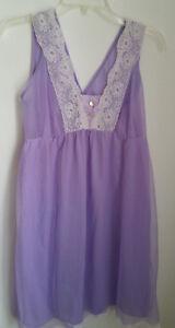 Vintage-Durelle-Nightgown-Medium-M-Purple-Lingerie