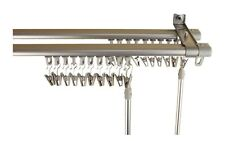double track curtain drapery rod hardware track set adjustable 66 120 silver
