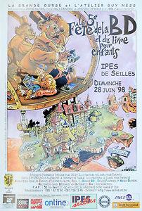 Affiche poster mora s 5e f te de bd et livre pour enfants 98 seilles 42x62 cm ebay for Poster et affiche