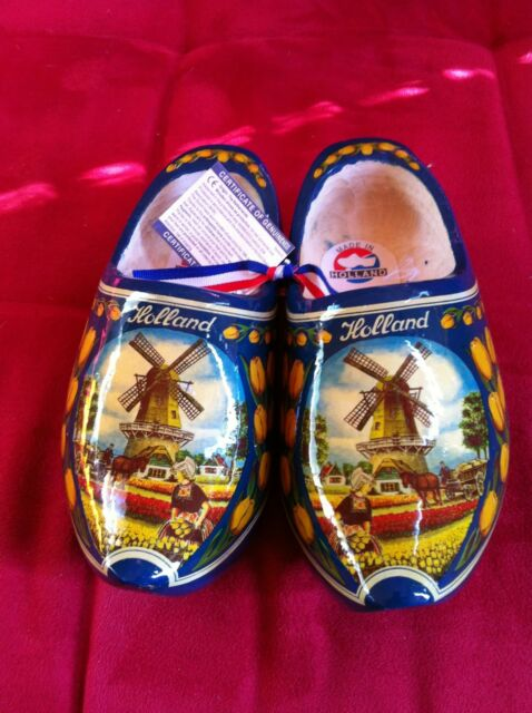 Dutch Wooden Clogs   Blue Tulip size 20-21 = 13 cm many sizes available