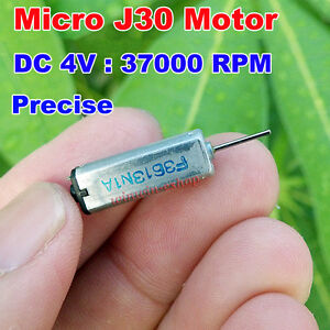 DC3V 3.7V 37000RPM High Speed Micro 5mm*7mm Mini J30 Motor 0.8mm Shaft DIY Parts