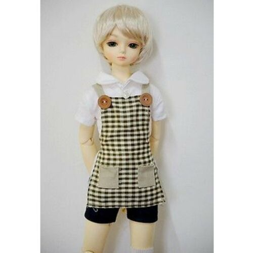 Brown Plaid Apron 1//4 MSD DOD AOD LUTS BJD Dollfie PF
